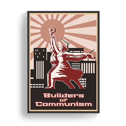 Poster VIntage Builders of Communism