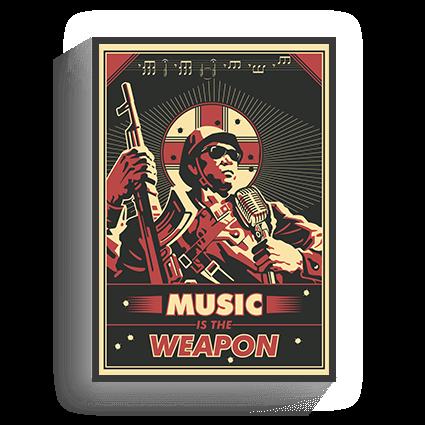 Poster Vintage Music