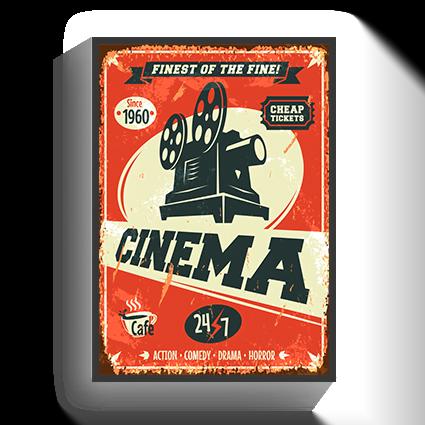 Poster Vintage Cinema