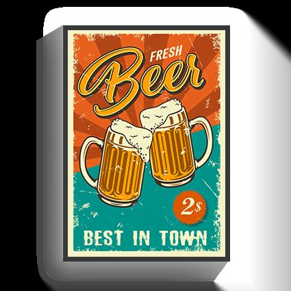 Poster Vintage Fresh Beer