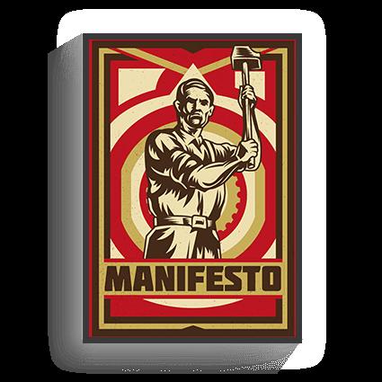 Poster Vintage Manifesto