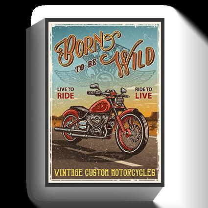 Poster Vintage Motorbike
