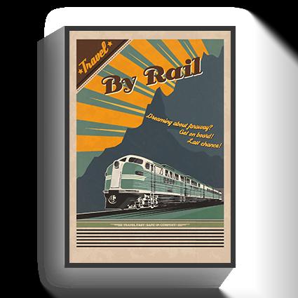 Poster Vintage Rail