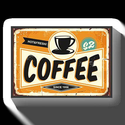 Poster Vintage coffee