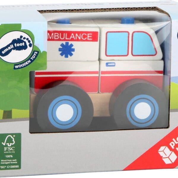 амбуланта- дрвена игарчка за деца