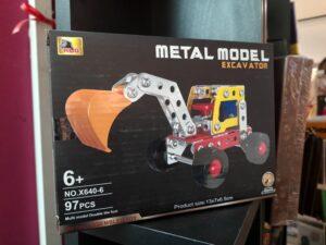 metal model excavator